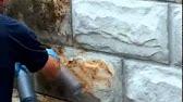 Технология покраски бетона - Графито Стейн - YouTube