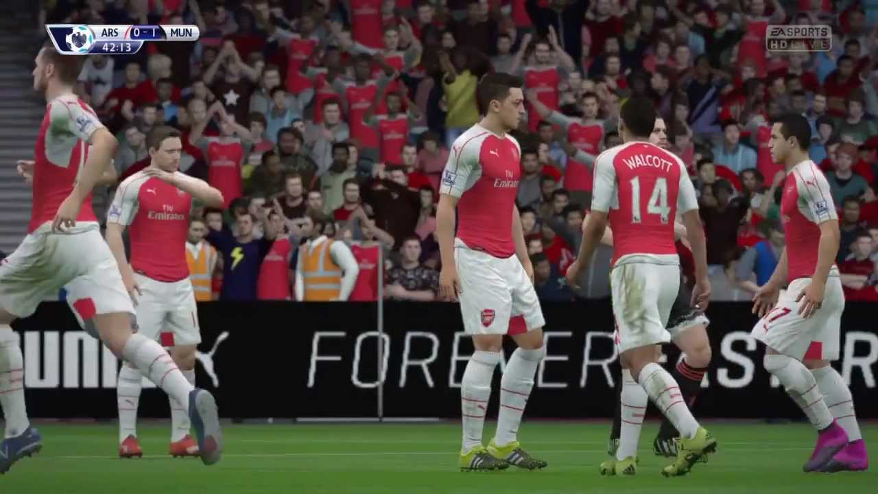 FIFA 16 | Arsenal vs Manchester United | Full Gameplay - PS4 - YouTube
