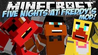 Minecraft  FIVE NIGHTS AT FREDDY'S (FNAF) MOD! (Scary Animatronics!)  Mod Showcase