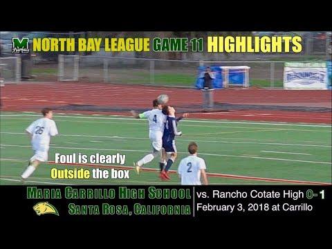 2018 2 3 HIGHLIGHTS Game 11: Maria Carrillo Varsity Soccer vs  Rancho Cotate