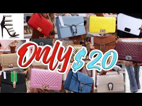 😍HUGE PURSE & HEELS HAUL *$20 EACH*   CHANEL & GUCCI DUPES // CHEAP AND AFFORDABLE