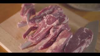 마켓컬리 양갈비, 미니화로에 구워먹는 양갈비, 양고기 …