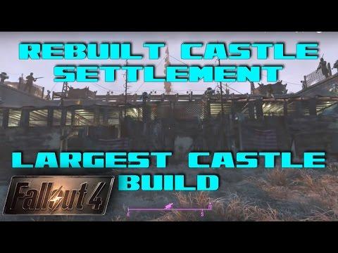 Fallout 4 - Rebuilt Castle Settlement 3.5! LARGEST CASTLE SETTLEMENT! MUFFTOPIA!