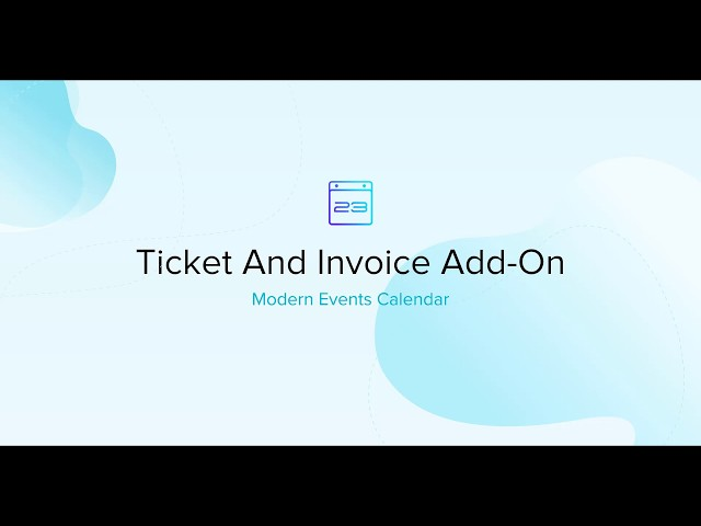 Ticket and Invoice Add-on