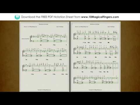 Khamoshiyan Piano Staff Notations with Chords and ABCD Notes | www.10MagicalFingers.com
