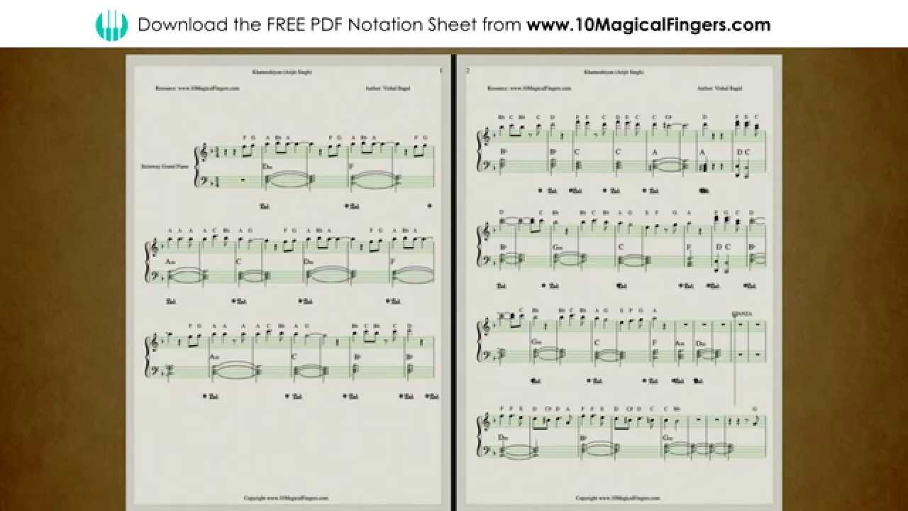 Khamoshiyan Piano Staff Notations With Chords And Abcd Notes Www
