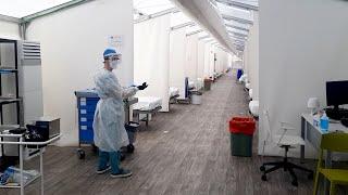 Primeros pacientes Covid en hospitales campaña de la C.Valenciana