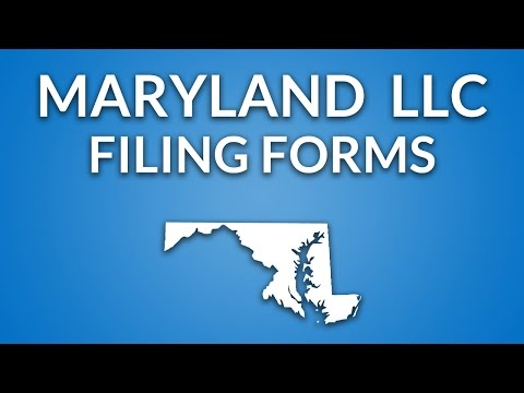 Maryland LLC - Formation Documents