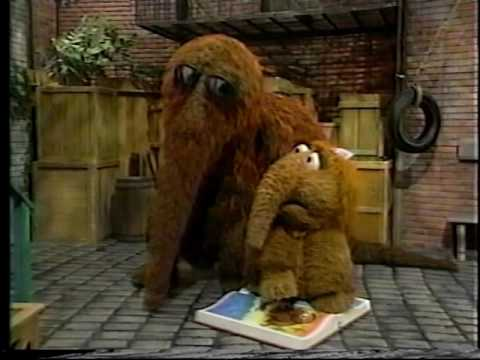 Sesame Street - Alice Won't Get Off of Snuffy's Book