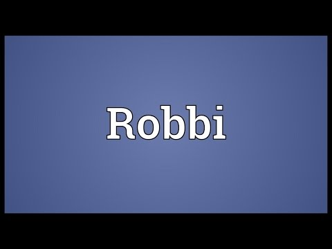 Robbi Meaning