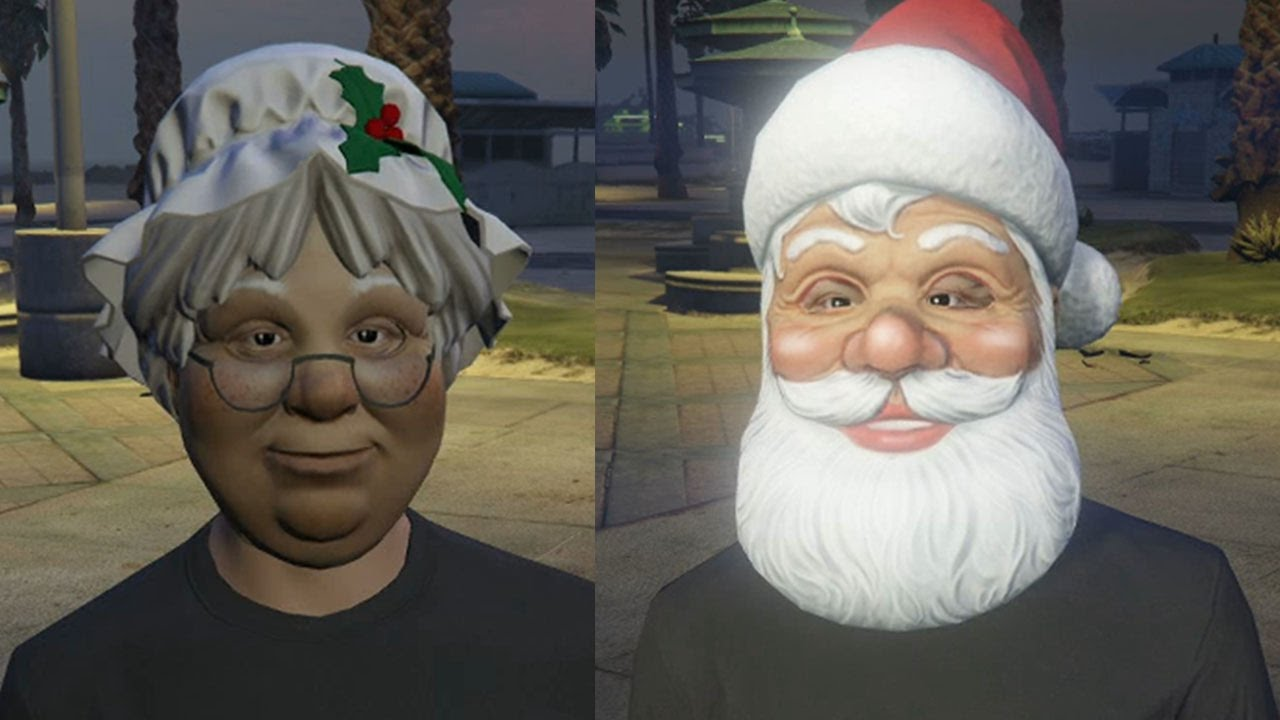 Gta 5 Online All Christmas Masks.Gta 5 Online Import Export Dlc Festive Christmas Masks Santa Reindeer More Gta V