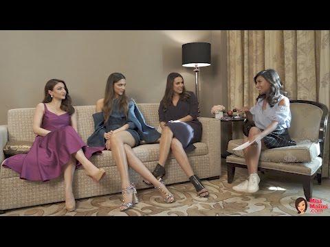 MissMalini's Razor Sharp Interview with Deepika, Neha & Soha