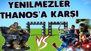 "BEKLENEN SAVAŞ ""YENİLMEZLER VS THANOS"" Minecraft Lucky Wars"