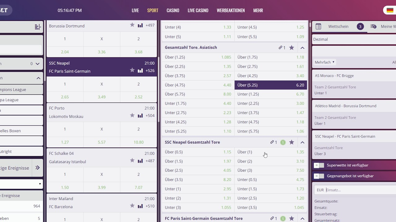Wett Tipps Champions League Morgen Sport 1 Live Stream Online Tv