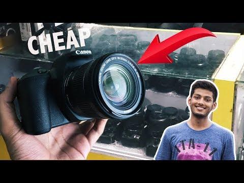 DSLR and Camera Gadgets for CHEAP ! Delhi DSLR Market Vlog