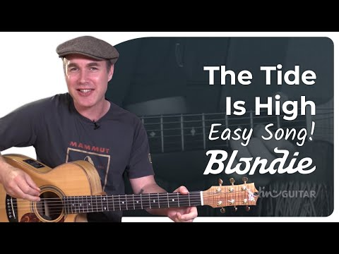Tide Is High - Blondie - Very Easy 3 Chord Beginner Guitar Lesson Tutorial (BS-128)