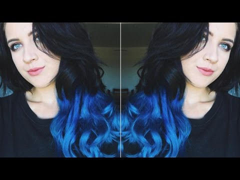 Tutorial of dark to blue ombr hair extensions ft vpfashion tutorial of dark to blue ombr hair extensions ft vpfashion alexasunshine83 pmusecretfo Image collections