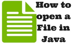 How to open a File in Java