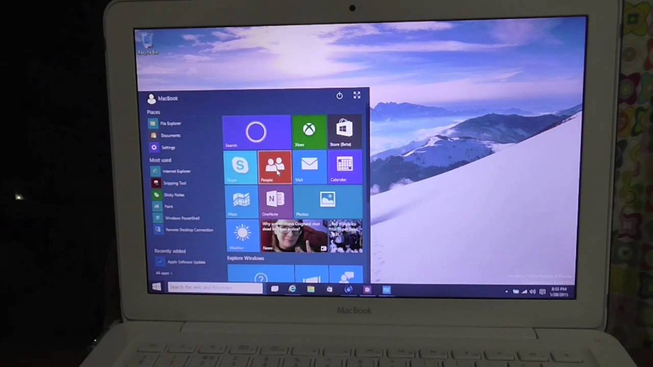 windows 10 on macbook 2009 white runs better than yosemite youtube. Black Bedroom Furniture Sets. Home Design Ideas