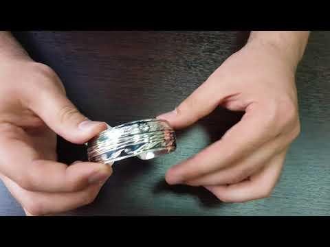 Серебряный кубачинский браслет с чернением арт.514
