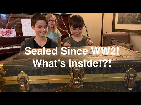 Sealed Since WW2! time capsule mystery trunk! whats inside!?!