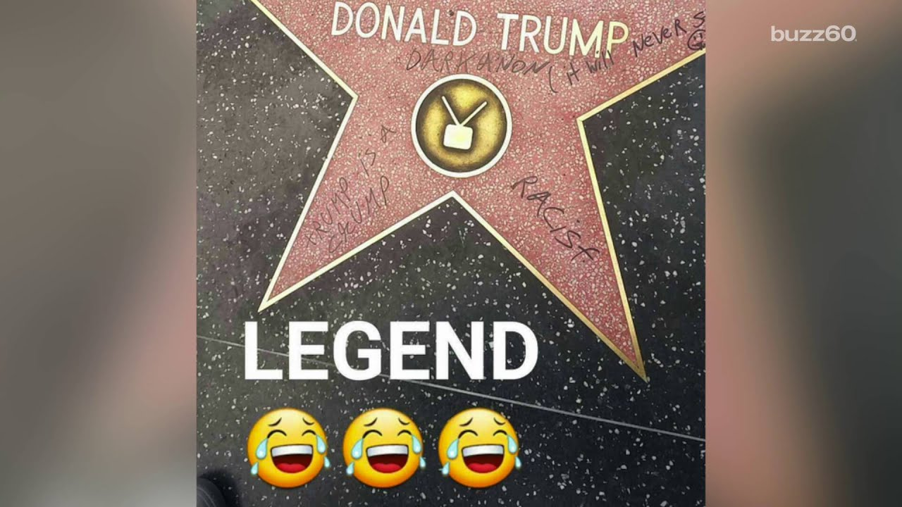 People Keep Vandalizing Donald Trump S Star On The