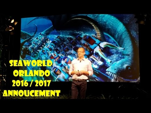 SeaWorld 2016 / 2017 Kraken VR Ride & Other Attraction Annoucements With Preview / Review!