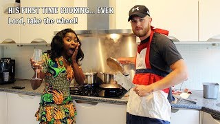 HUSBAND'S FIRST TIME COOKING A TYPICAL DUTCH MEAL (HUTSPOT) FOR HIS NIGERIAN WIFE