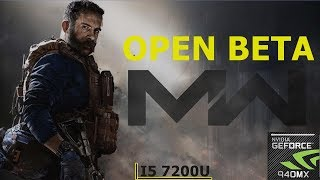 Call Of Duty: Modern Warfare BETA || 940MX (MX130) || Acer Aspire A515 51G 58VH