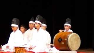2013-10-20 大分文化会館 子ども神楽の競演にて 太鼓抜粋