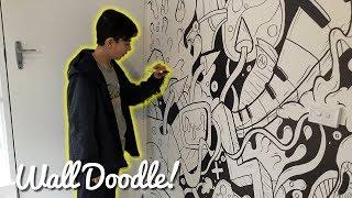 EPIC WALL DOODLE!!   Sharpie + Copic Doodle Art by Shrimpy