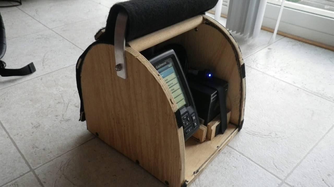 Homemade garmin striker 4 portable box youtube for Garmin striker 4 ice fishing