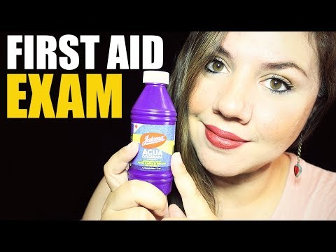 ASMR Treating Your Wounds | First Aid Nurse Role Play