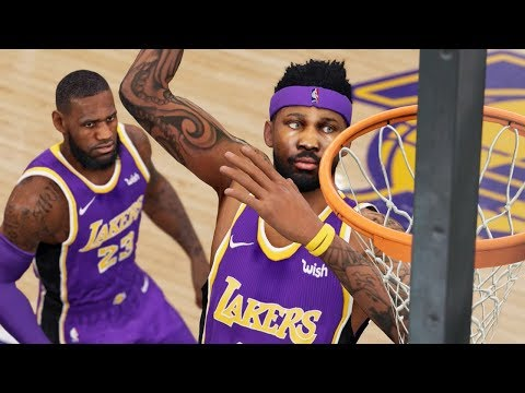 SICK 360 ALLEY-OOP DUNK THROWN BY LEBRON! NBA Live 19 Career Gameplay Ep. 8