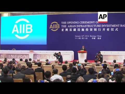 Asia Infrastructure and Investment Bank opens