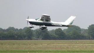 Cessna 177B ► Takeoff - Landing ✈ Groningen Airport Eelde