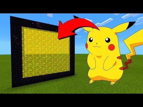 How To Make A Portal To The Pikachu Dimension In Minecraft!