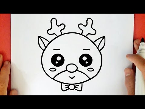 Como Desenhar Uma Rena De Natal Kawaii Youtube