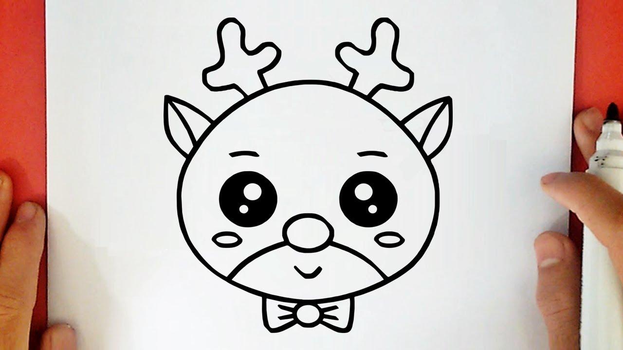 Como Desenhar Uma Rena De Natal Kawaii