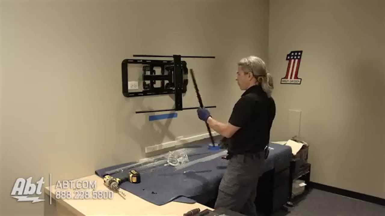 How To Wall Mount A Tv Using A Pivot Arm Mount Sanus