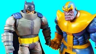 Thanos Family Battles Imaginext Justice League !  Robot Batman ! Superhero Toys