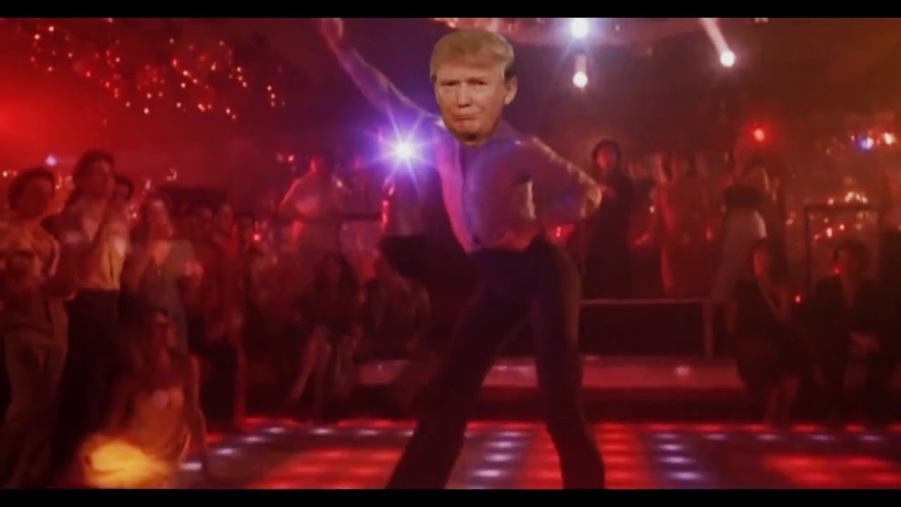 donald trump saturday night fever youtube. Black Bedroom Furniture Sets. Home Design Ideas