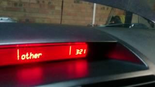Mazda 6. Налаштування годинника без штатного ГУ.