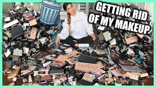 GETTING RID OF HALF OF MY MAKEUP COLLECTION | EXTREME CLEAN OUT
