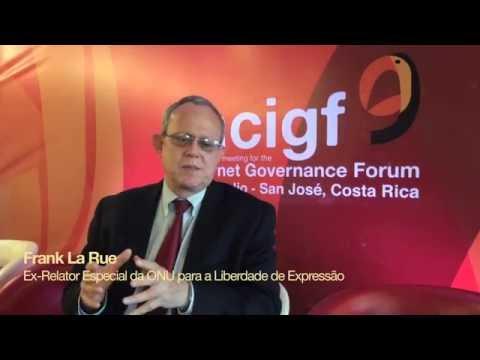 Frank La Rue defende modelo multissetorial do Comitê Gestor da Internet no Brasil