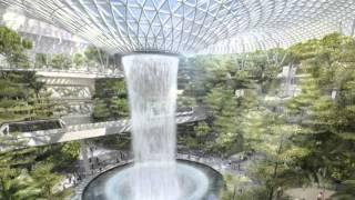 Moshe Safdie's Jewel Changi Airport biodome breaks ground in Singapore