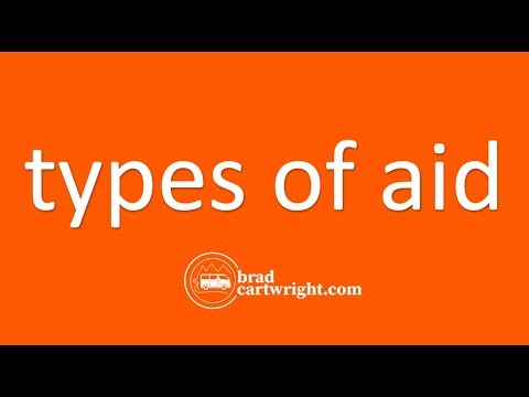 Aid, Debt, and Economic Development Series:  Types of Aid