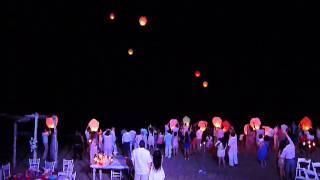Lanzamiento de Globos de Cantoya en Bucedrias - Boda 8 de Febrero 2014