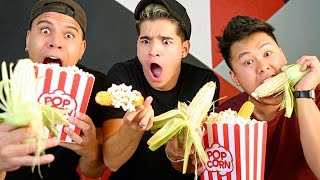 CRAZY POPCORN ON THE COB MAGIC TRICK!