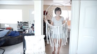 Giant Dream Catcher DIY ( Modern Room Decor under $10)